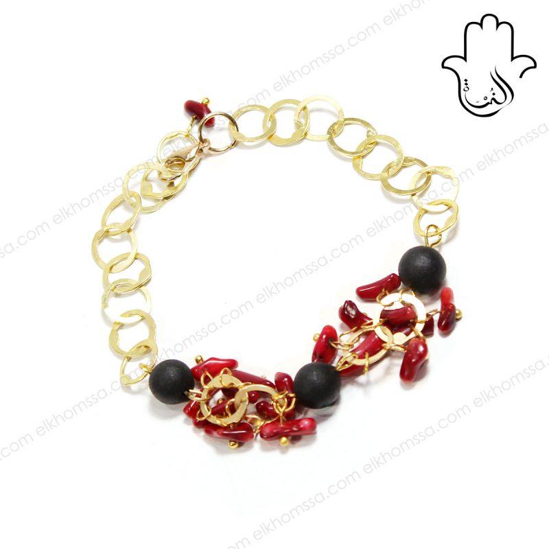 El Khomssa - Bracelet Corail