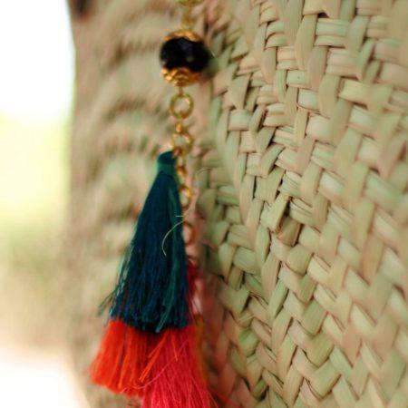 Sac Couffin Rond - El Khomssa Bijoux et Accessoires Traditionnels