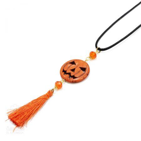 Collier Halloween Orange - El Khomssa Bijoux & Accessoires Traditionnels