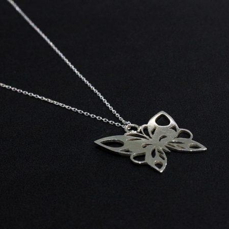 Collier Papillon Argent - El Khomssa Bijoux & Accessoires Traditionnels