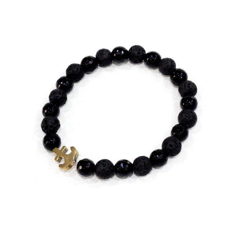 Bracelet Homme Ancre- El Khomssa Bijoux & Accessoires Tradtionnels